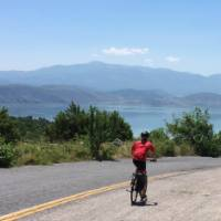 Cycling in Macedonia towards Greece