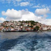Visit the small resort city of Ohrid, situated next to one of Europe's deepest and oldest lakes.
