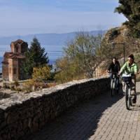 Cycling near Ohrid