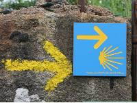 Portuguese Camino sign showing the way to Santiago de Compostela in Spain |  <i>Jaclyn Lofts</i>