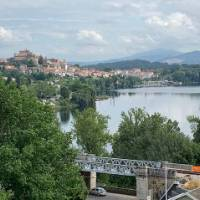 Looking at Tui across the Mino River at the start of your Portuguese Camino walking tour | Tatjana Hayward