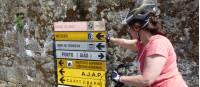 Self guided cyclist making her way on the Portuguese Camino tour from Porto to Santiago de Compostela |  <i>Pat Rochon</i>