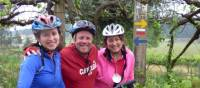 Happy cyclists on the Porto to Santiago self guided cycle | Pat Rochon