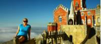 Hiker sightseeing at the Pena Palace in Sintra |  <i>Linda Murden</i>