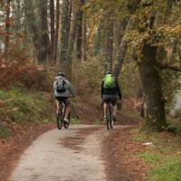 Cycling the quiet trails of the Portuguese Camino to Santiago de Compostela in Spain