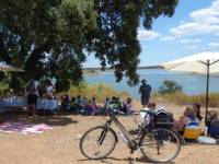 Relaxing by the lagoon with a picnic lunch in the Alentejo