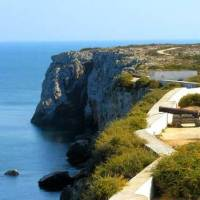 The most south west point of Europe on day 4 of the Algarve Cycle