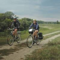 Cycling along Danube river out of Belgrade, Serbia | Sue Badyari