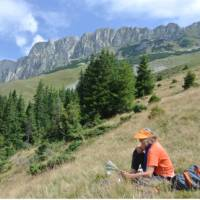 Resting below the limestone peaks of Piatra Craiului National Park | Lilly Donkers