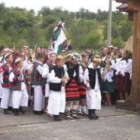 Young children from Maramures in traditional dress, Romania