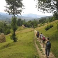 Walking in the northeastern Carpathian Mountains