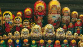 Matryoshka or Babushka dolls for sale in Siberia | Rachel Imber