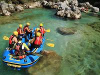 Rafting on the beautiful & wild Soca River in Slovenia