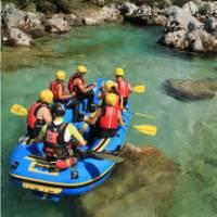 Rafting on a beautiful & wild river in Eastern Europe