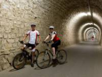 Cycling the Strunjan tunnel near Portoroz on the Parenzana Cycle Trail |  <i>Jaka Jeraša</i>