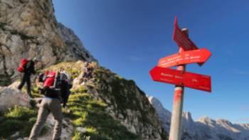 Hiker ascending Mt Triglav, Slovenia's tallest mountain | Ana Pogacar