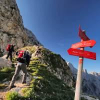 Hiker ascending Mt Triglav, Slovenia's tallest mountain   Ana Pogacar