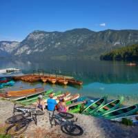 Relaxing by Bohinj Lake, the largest glacier fed lake in Slovenia | Tomo Jesenicnik