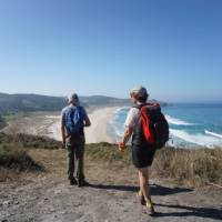 Enjoying the coastal walk of the Lighthouse Way in Spain