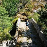 Enjoying the historic walk along the Camino Sanabres