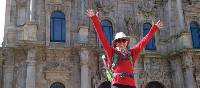 Arriving in the beautiful city of Santiago after completing the Camino Trail | Edwina Parsons