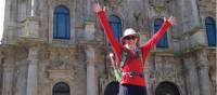 Arriving in the beautiful city of Santiago de Compostela after completing the Camino Trail |  <i>Edwina Parsons</i>