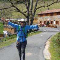 Walking the gorgeous Camino Trail en route to Roncesvalles   Edwina Parsons