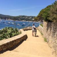 Cyclist on the Costa Brava on a self guided cycle trip in Catalonia | Kate Baker