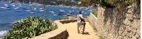Cyclist on the Costa Brava on a self guided cycle trip in Catalonia |  <i>Kate Baker</i>