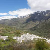 Whitewashed village nestled in the mountains of the Alpujarras   Erin Williams