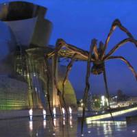 The magnificent Guggenheim Museum in Bilbao on the Camino Norte self guided walk   Andreas Holland