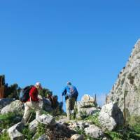Heading for the coll in the Sierra de Grazalema