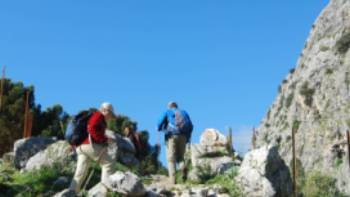 Heading for the coll in the Sierra de Grazalema