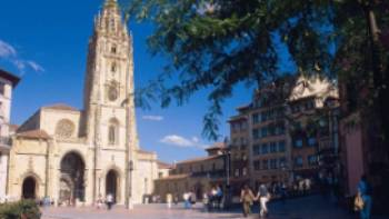 Town square in Oviedo