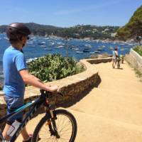 Teen cyclist on the Costa Brava on a self guided cycle trip in Catalonia   Kate Baker