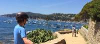 Teen cyclist on the Costa Brava on a self guided cycle trip in Catalonia | Kate Baker