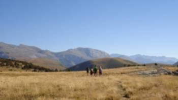 Walking towards Cuello Arenas in the Ordesa and Monte Perdido National Park