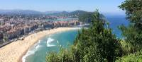 Looking over San Sebastian from the Camino Norte | Jaclyn Lofts