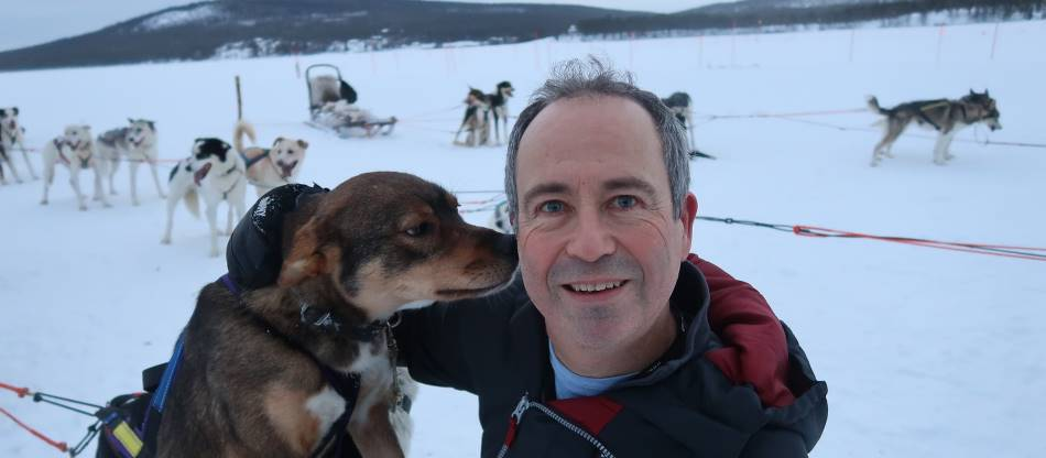 get affectionate with the dogs on a dogsled adventure in Lapland |  <i>Kate Baker</i>
