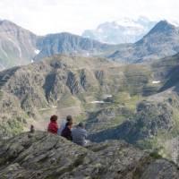 Hikers on the St Bernard pass | Kate Baker