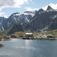 The delightful setting of the St Bernard Pass   Kate Baker