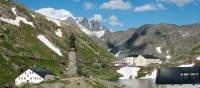 The iconic St Bernard Pass marking the border between Switzerland and Italy | Kate Baker