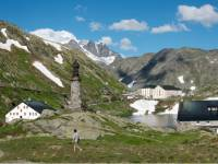 The iconic St Bernard Pass marking the border between Switzerland and Italy |  <i>Kate Baker</i>