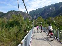 Cycling on the relatively flat trails of the Ticino region in Switzerland
