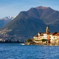 Lake Lugano in the Ticino canton, with  Mt Bre and Mt Boglia (1516m) in the distance | Roland Gerth