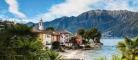 Colourful houses line Lake Maggiore in the Ticino Canton of Switzerland | Jan Geerk