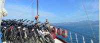 Bikes on board the Caferoglu on the Lycian Coast |  <i>Erin Williams</i>