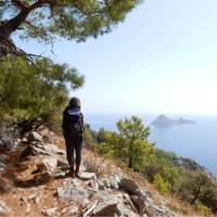 Taking in the view from Cape Gelidonia on the Lycian Way in Turkey   Lilly Donkers