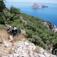 Coastal walk in the Cirali region of Turkey
