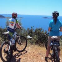 Soaking up the views of the Lycian coast while on a cycle break